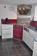 Küche 2.1 Weiß-Rot