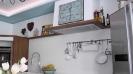 Küche 9.5 Nussbaum-Weiß matt