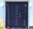 Merantihaustür blau